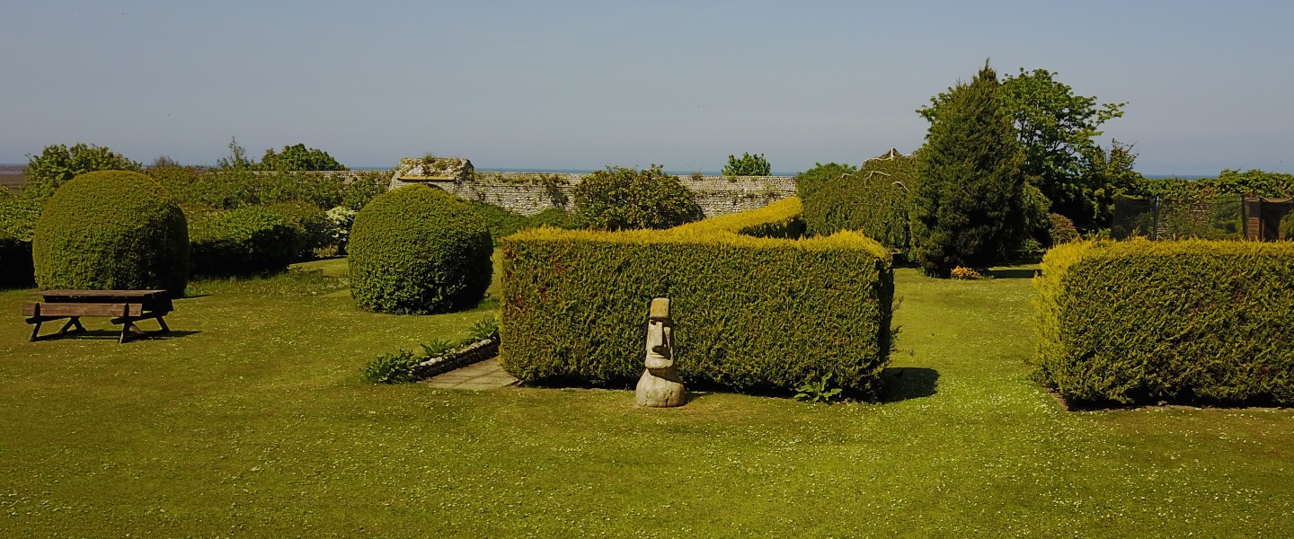 The landscaped gardens at Friary Farmhouse