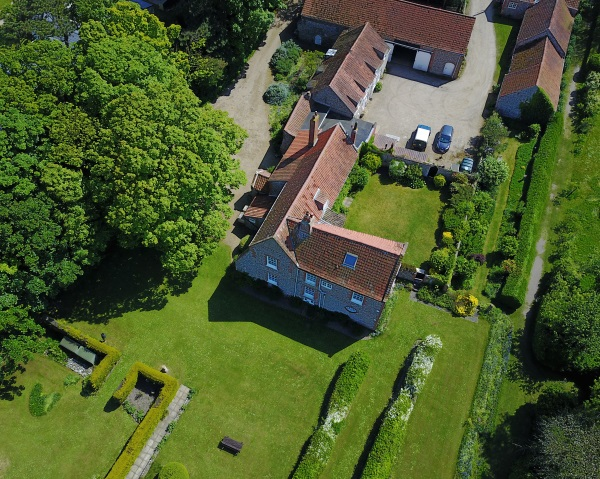 An Arial view of Friary Farmhouse